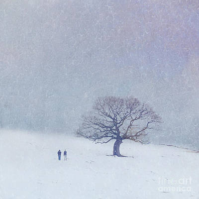 A Walk In The Snow Art Print