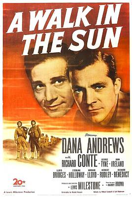 Richard Conte Photograph - A Walk In The Sun, Us Poster, From Left by Everett
