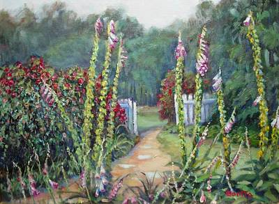 Painting - A Walk Into The Garden by Bonita Waitl