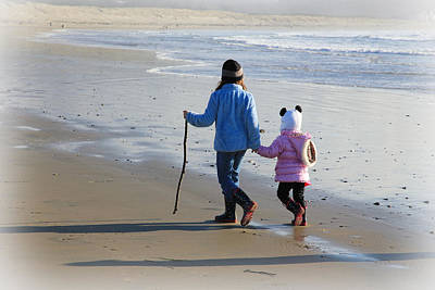 Photograph - A Walk On The Beach by Athena Mckinzie