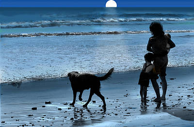 Art Print featuring the photograph A Walk On The Beach by Mike Flynn
