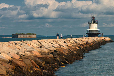 Photograph - A Walk To Spring Point Light  by Paul Mangold