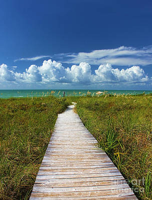 Beach Photograph - A Walk To The Beach On Sanibel by Jeff Breiman