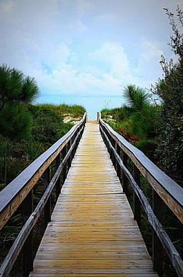 A Walk To The Beach Art Print by Paul  Wilford