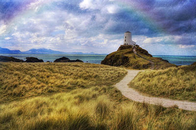 A Walk To The Lighthouse Art Print by Ian Mitchell