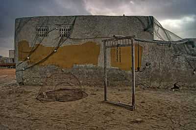 Photograph - A Wall In An Abandoned Fishing Village  by Munir El Kadi