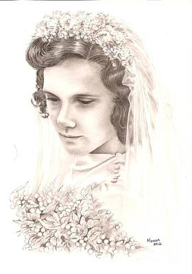 A War Bride Art Print by Manon  Massari