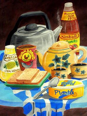 Pineapple Drawing - A Warm Breakfast by Adam Wai Hou