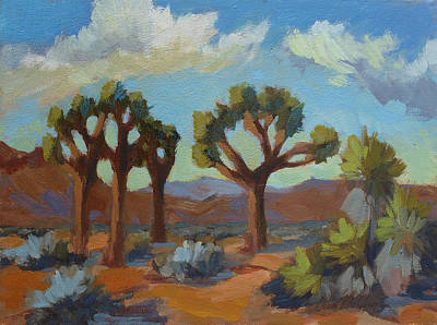 Joshua Painting - A Warm Morning At Joshua 2 by Diane McClary