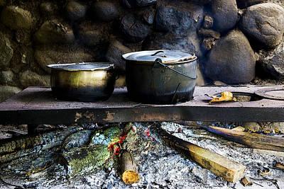 Aluminum Outdoor Photograph - A Watched Pot Never Boils by Al Bourassa