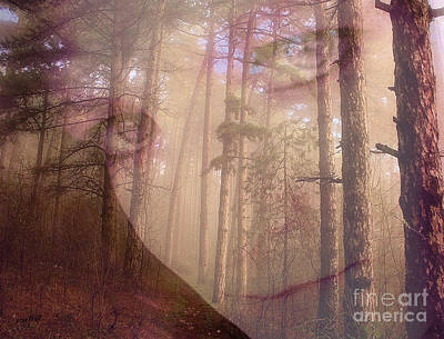 Digital Art - A Watchful Forest by Ruby Cross