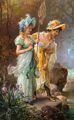 Digital Art - A Water Idyll Detail II by Hans Zatzka
