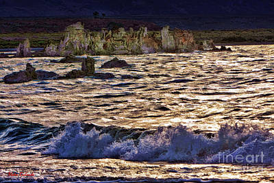 Photograph - A Wave At Mono Lake  by Blake Richards