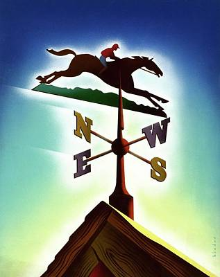 Weathervane Digital Art - A Weather Vane by Joseph Binder