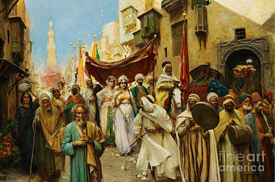 Allah Painting - A Wedding Procession In Cairo by Celestial Images