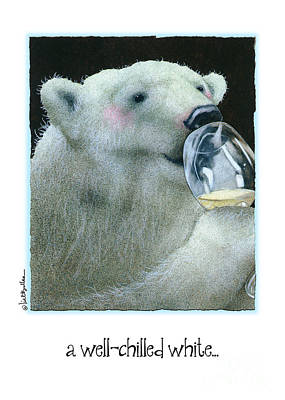 Wine Painting - A Well Chilled White... by Will Bullas