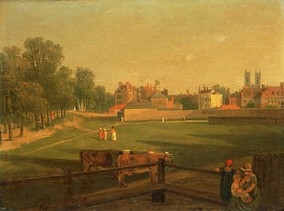 Cage Painting - A Western View Of Part Of Westminster And Bird Cage Walk by Litz Collection