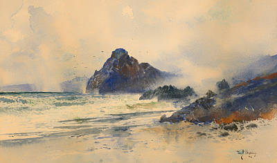 Wet On Wet Painting - A Wet Day On A Wild Coast by Mountain Dreams