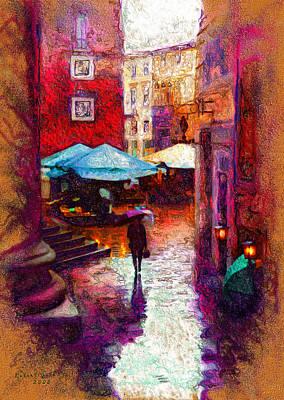 A Wet Evening Art Print