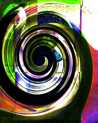 Whirly Digital Art - A Whirl by Cathy Anderson