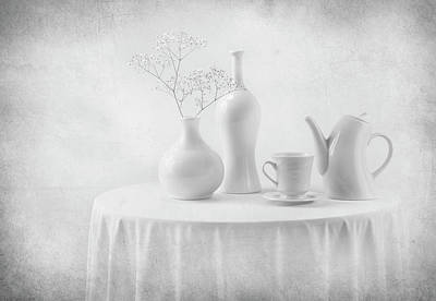 Table Cloth Photograph - A White Dream by Margareth Perfoncio