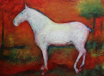 Painting - A White Horse by Carol Jo Smidt