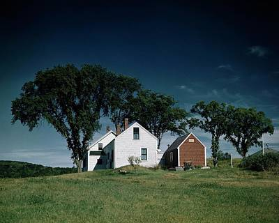 A White House In The Countryside Print by Stewart Love