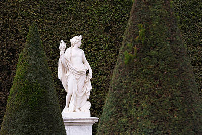 A White Marble Statue Is Shown Art Print by Philippe Widling