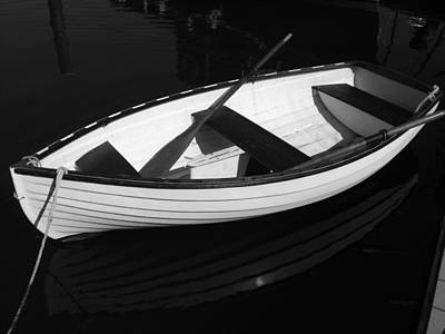 Photograph - A White Rowboat by Xueling Zou