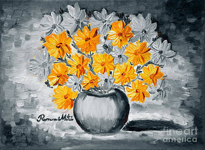 A Whole Bunch Of Daisies Selective Color I Art Print