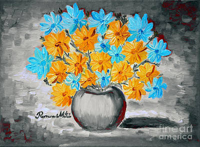 Painting - A Whole Bunch Of Daisies Selective Color II by Ramona Matei
