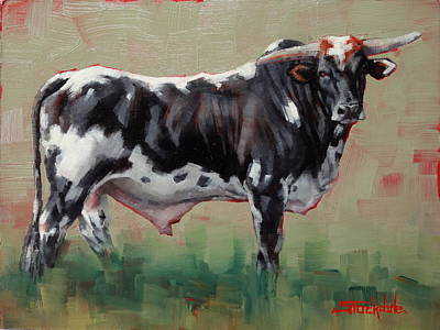 Painting - A Whole Lotta' Bull by Margaret Stockdale