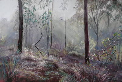 Painting - A Wickham Misty Morning by Lynda Robinson
