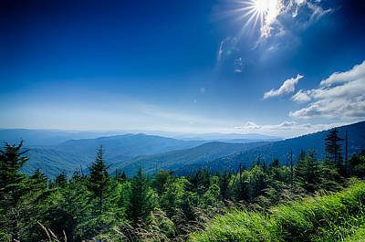 Photograph - A Wide View Of The Great Smoky Mountains From The Top Of Clingma by Alex Grichenko