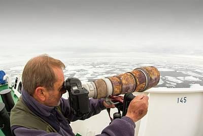 A Wildlife Photographer Art Print by Ashley Cooper