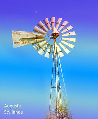 Turquois Water Photograph - Famagusta Windmill by Augusta Stylianou
