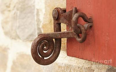 Photograph - A Window Latch by Kerri Mortenson
