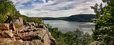 A Windy Day At Devil's Lake Art Print