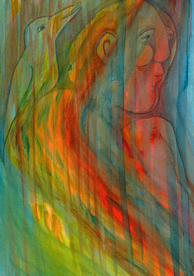 Dappled Light Mixed Media - A Winging Song Dapples Their Morning by Suzy Norris