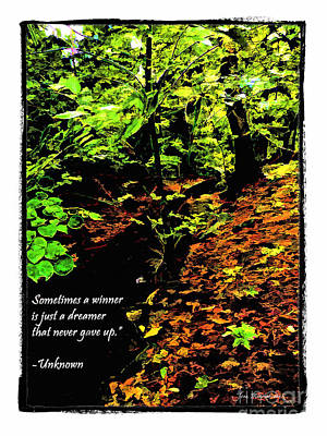 Photograph - A Winner And Dreamer Quote by Joan  Minchak