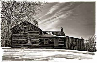 A Winter Dream Monchrome Art Print by Steve Harrington