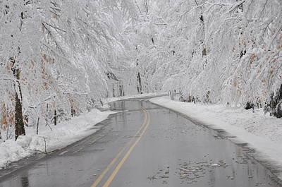 A Winter Drive In Door County. Art Print