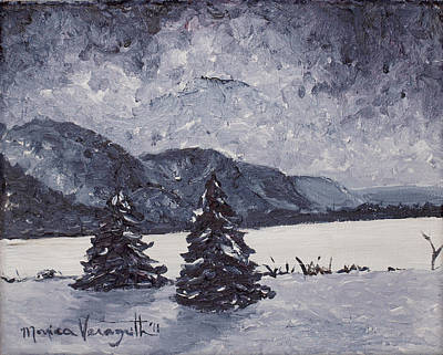 Painting - A Winter Evening by Monica Veraguth