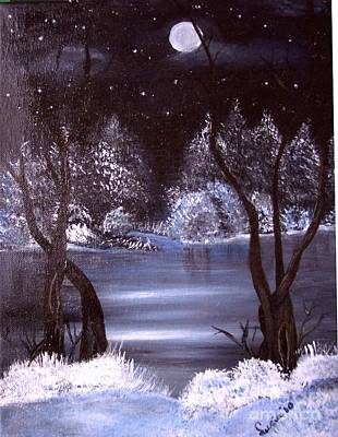 A Winter Night Art Print