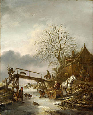 Painting - A Winter Scene by Isaac van Ostade
