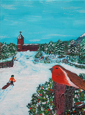 Painting - A Winter Scene by Martin Blakeley