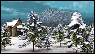 Digital Art - A Winter Scene... by Tim Fillingim