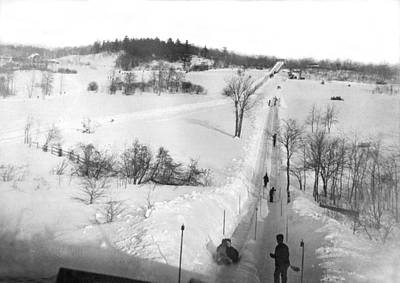 Of The Countryside Photograph - A Winter Sports Venue by Underwood Archives