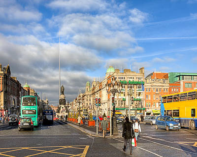 Photograph - A Winter Stroll In Dublin Ireland by Mark E Tisdale