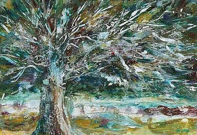 A Winter Tree Art Print by Mary Wolf